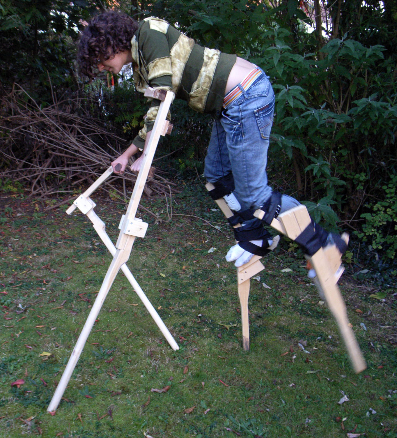 Deer stilts cos... Homemade Jack Skellington Costume